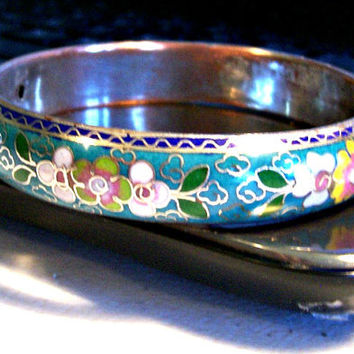 Vintage Antique Sterling Silver Over Copper Teal by BootsiesWorld
