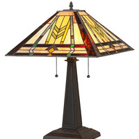 Stained Glass Arts & Crafts Nathan Table Lamp