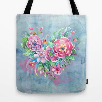 Flower Power Tote bag, Custom Tote bag, Customized tote, Personalized gift for her, Bridesmaid tote bag, Bridesmaid gift set