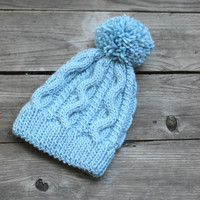 Knit hat pattern - Wind hat in PDF
