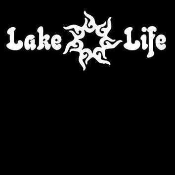 Lake Life Vinyl Car Decal