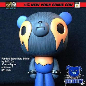 NYCC Exclusive Pandara Super Hero Edition resin figure by SoKo Cat