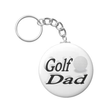 Golf Dad 3D Key Chains