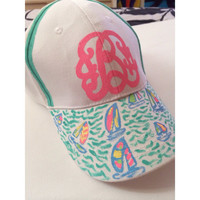 Lilly Pulitzer Monogram You Gotta Regatta Hat