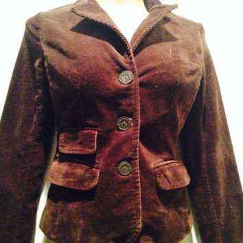 Vintage Brown Corduroy Jacket Size Small