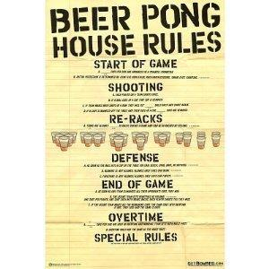 NMR 88845 Beer Pong Rules Decorative Poster