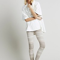 Free People Womens Marbled Stripe Legging