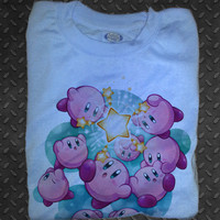 Soft Premium Quality Nintendo N64 gameboy DS 3ds Kirby's Adventure  T-Shirt Tee Tshirt