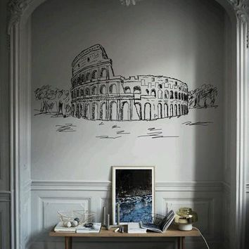 ik2478 Wall Decal Sticker Coliseum Rome Italy living room bedroom