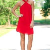 Need Me Red Halter Dress