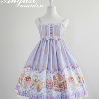 Ginger Cookie House Sweet Lolita Jumper Dress