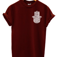 Hamsa Large Left Logo T Shirt