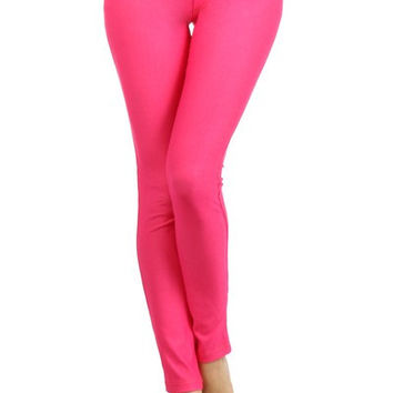 Ladies Fashion Color Skinny Jegging