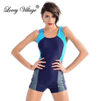 Swimsuit One Piece Swimwear Sport Professional Neck To Knee Competition One-Piece Suits Shorts Sexy Racing Bathing Suits Women