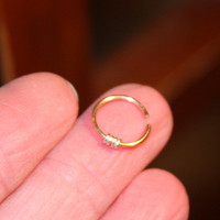 Small Nose Ring, Nose Hoop, Hoop Earring, Cartilage Hoop, Endless Hoop, Seamless Hoop, Piercing Jewelry, Single Hoop