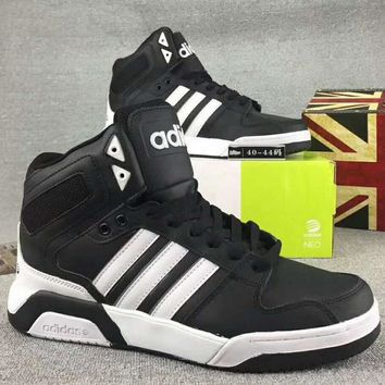 Adidas Bb9tis Trending Fashion Casual High Tops Running Sports Shoes Sneakers Black+White G