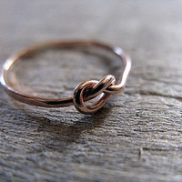 14k Rose Gold Fill Knot Ring
