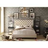 Moser Bay Furniture Calia Beige Tufted Upholstery Queen Platform Bed   Overstock.com Shopping - The Best Deals on Beds
