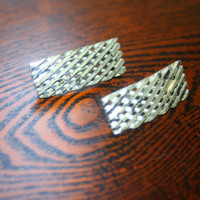 Vintage Silver Plated Hair Barrettes