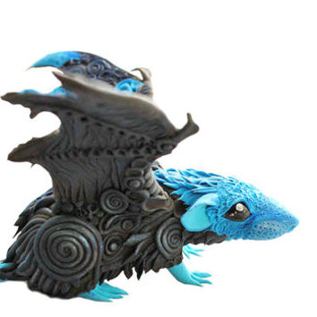 Rat Mouse Winged figurine sculpture pet, Rat angel, rat totem, amulet, fairy, fantasy