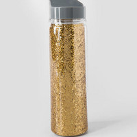 Gold Glitter 18oz Water Bottle