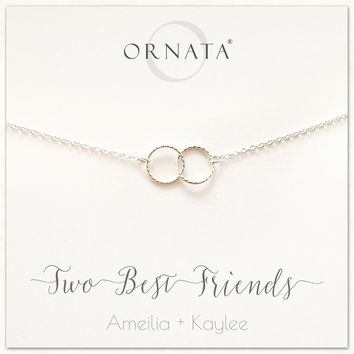 """Two Best Friends""  Sterling Silver Necklace 