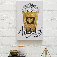 Coffee Addict Canvas Art