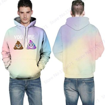 Funny Mr Goo Skateboarding Hoodies YOU ME Print Men Tracksuits Autumn Sweatshirts Winter Long Sleeve Hoody Tracksuit Men Sweater