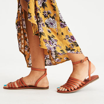 AEO Thin Multi Strap Sandal, Tan