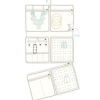 Jet Set Large Jewelry Organizer in Teal Stingray - Kendra Scott Jewelry
