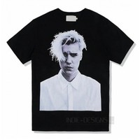 Indie Designs Justin Bieber Photo Printed T-shirt