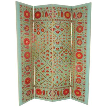 Vintage One of a Kind Suzani Screen