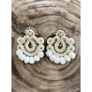 'Bidi Bidi Bom Bom' Soutache Tassel Earrings