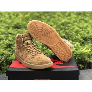Air Jordan 1 Retro High Rebel Wheat AJ1 Sneakers