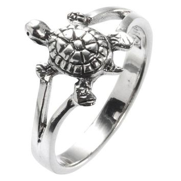 PEAPGQ9 Turtle Sterling Silver Ring