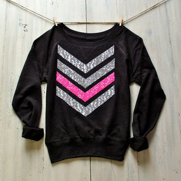 Sequin Chevron Arrow Design Slouchy Sweatshirt Jumper Liam Payne Tattoo 1D One Direction Plus Size Available Pinterest Fashion