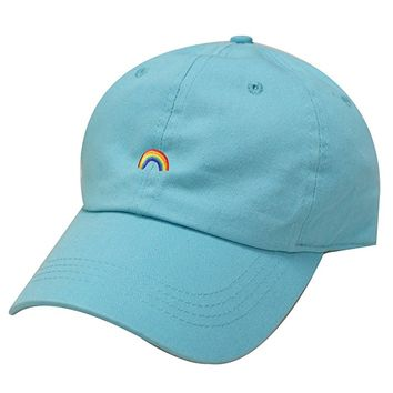 C104 Rainbow Cotton Baseball Cap 12 Colors