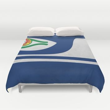 Portuguese Hawks culture Duvet Cover by Tony Silveira