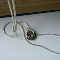 Mobius Ball Necklace on Sterling Silver 925 Snake Chain
