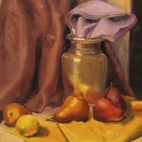 Fine art Print of still life Pears apples and by brandycattoor