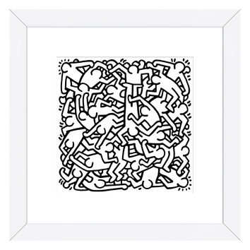 Party of Life Invitation, 1986 by Keith Haring (Framed)