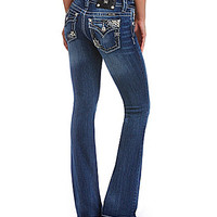 Miss Me Flap-Pocket Bootcut Jeans - Medium Blue