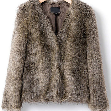Full Faux Fur Coat
