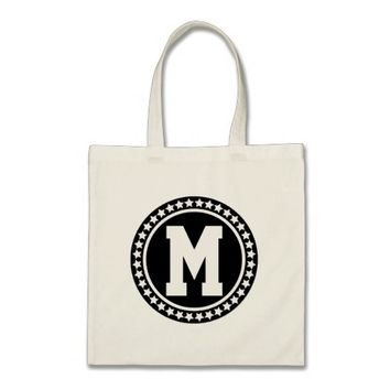 Black Superstar Monogram Tote Bag