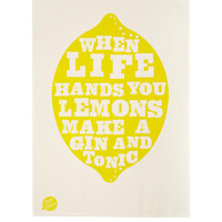 To Dry For Lemons Printed Linen Tea Towel | Tea Towel by To Dry For | Liberty.co.uk
