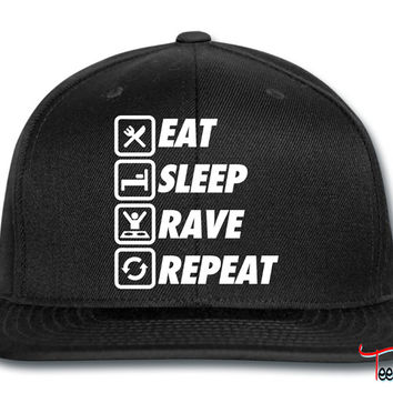 Eat Sleep Rave Repeat Snapback