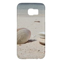 Seashells on sandy Caribbean beach close-up Samsung Galaxy S6 Cases