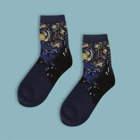 Vincent van Gogh's Starry Night Sock | Short