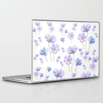purple cosmos  Laptop & iPad Skin by Color And Color