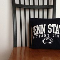 Penn State Recycled T-Shirt Pillow Cover